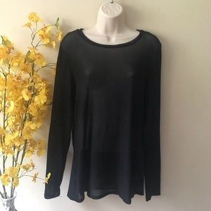 Torrid black sheer women's long sleeve top 2